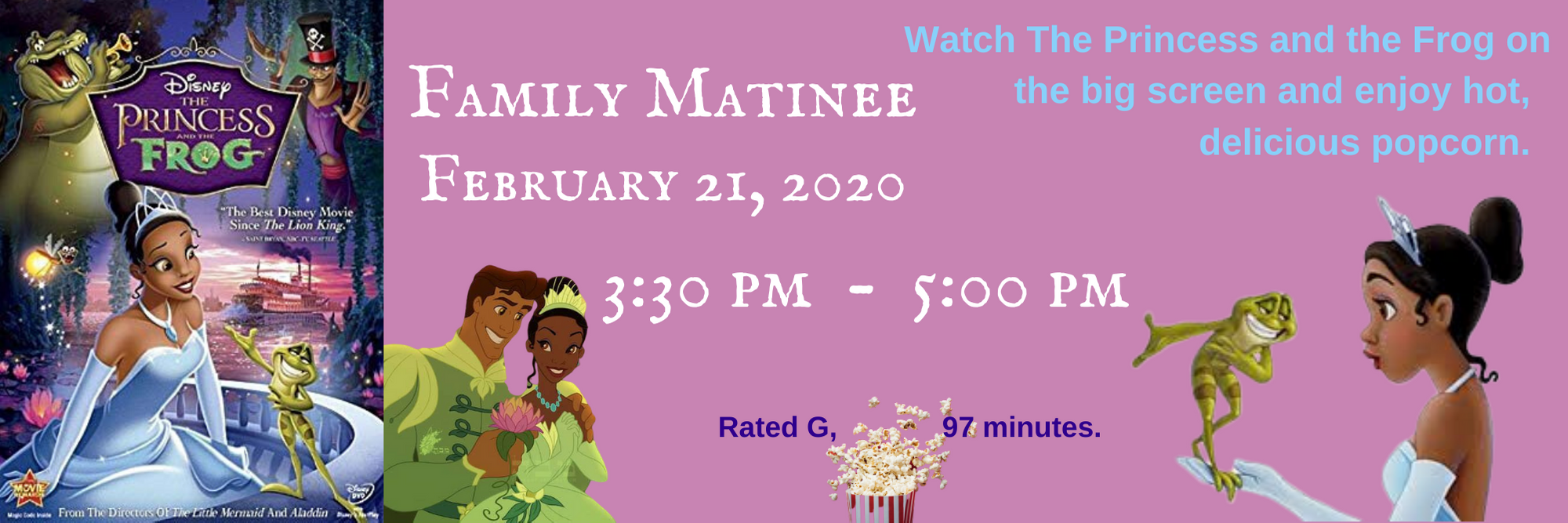 Friday Matinee - The Princess and the Frog @ MCCLS | Moultrie | Georgia | United States